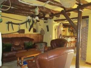 woonkamer vakantiehuis met decoratie