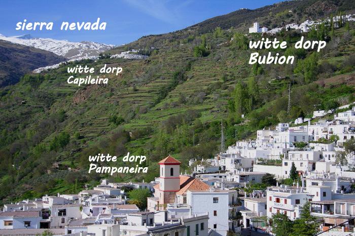 witte dorpen Pampaneira, Bubion en Capileira