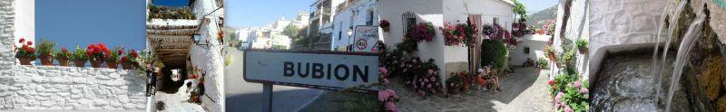 straten van dorp Bubion,