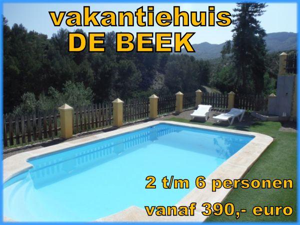 Andalusie Spanje,De Beek, vakantiehuis