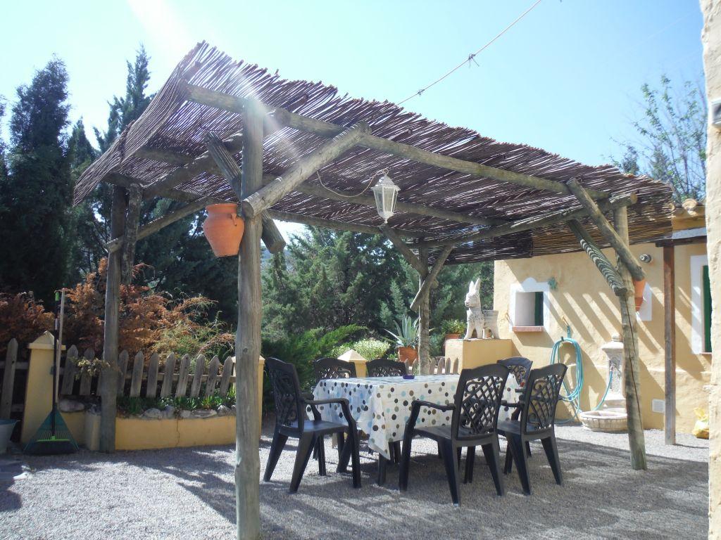zicht in patio vakantiehuisje DE BEEK, andalusie spanje
